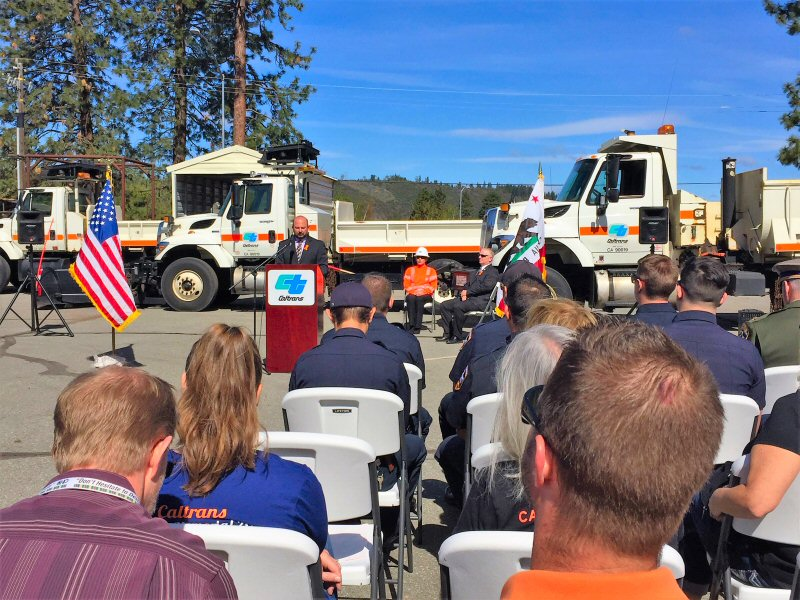 Caltrans Holds Memorial Service For Fallen Workers Pit